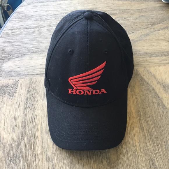 51916882 3/$10 Red and Black Otto Brand Honda Ballcap